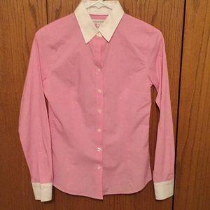 Banana Republic tailored pink shirt